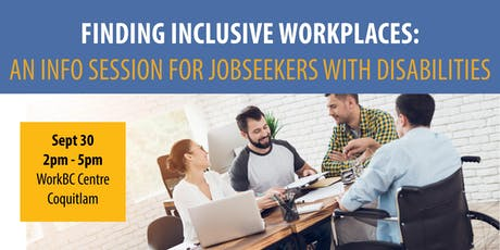 Finding Inclusive Workplaces: Info Session for Jobseekers with Disabilities tickets