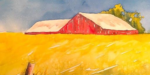 Artbarn at Le Farm Watercolour Workshop