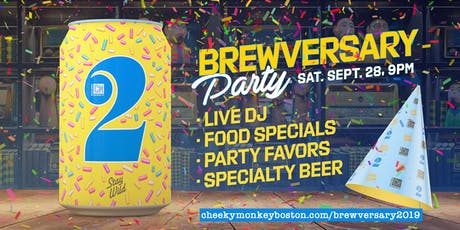 Cheeky Monkey Brewing Co's 2nd Brewversary tickets