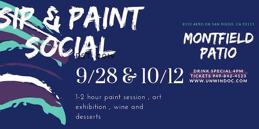 """Sip & Paint  """"Wild Sunset """" SHERATON HOTEL SAN DIEGO"""