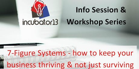 7-Figure Systems - how to keep your business thriving & not just surviving tickets