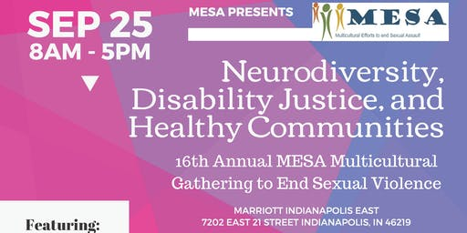 Neurodiversity, Disability Justice, & Healthy Communities (MESA Gathering)