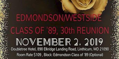 Edmondson-Westside Class of '89, 30th Reunion tickets