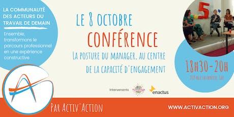 Conférence - La posture du manager, au centre de la capacité d'engagement billets