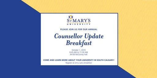 St. Mary's University Counsellor Update Breakfast