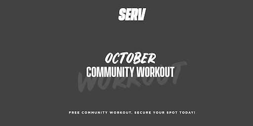 SERV Nutrition October Community Workout