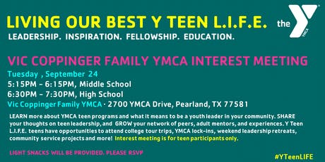 VIC COPPINGER Y TEEN L.I.F.E. INTEREST MEETING tickets