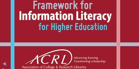 2019 VCAL/VLA Workshop: ACRL Framework for Information Literacy for Higher Education tickets