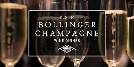 Bollinger Champagne Dinner tickets