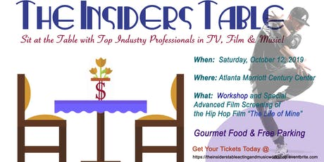 The Insiders Table Workshop & Special Advanced Film Screening tickets