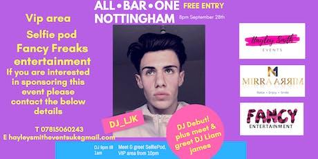All Bar One presents Nottingham's  DJ Liam James! 28th September! tickets