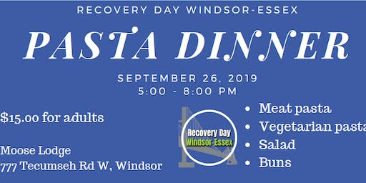 Recovery Day Windsor-Essex Pasta Dinner