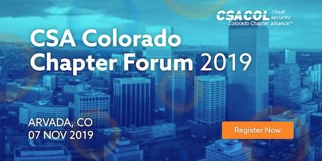 Colorado Chapter Forum tickets