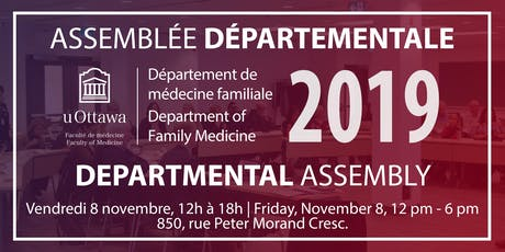 Assemblée départementale 2019 Departmental Assembly tickets