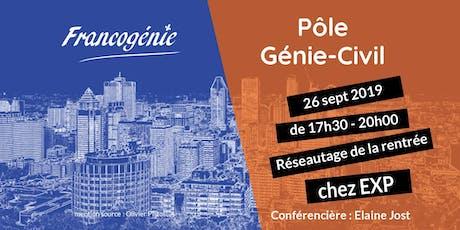 Francogénie : Réseautage du pôle Génie Civil et Construction billets
