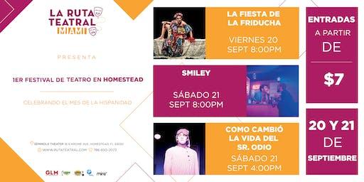 FESTIVAL DE TEATRO HOMESTEAD - Septiembre 20, 8pm