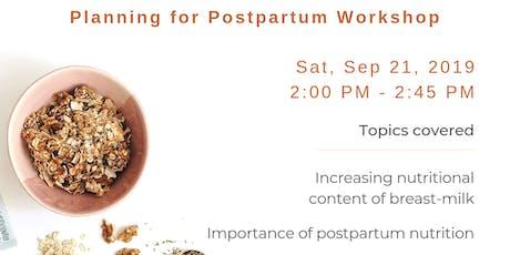 Postpartum Nutrition Workshop tickets