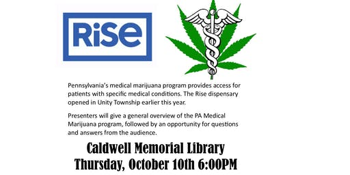 Medical Marijuana Educational Seminar at Caldwell Library