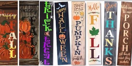 DIY Fall Porch Signs tickets