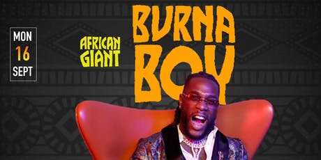 Burna Boy Concert After Party Monday tickets