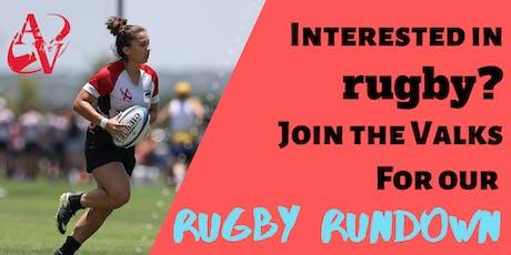 Austin Valkyries Rugby Rundown tickets