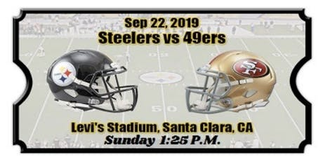 David's Gameday (Including Parking) 49ers VS Steelers Sept. 22 Yellow lot tickets
