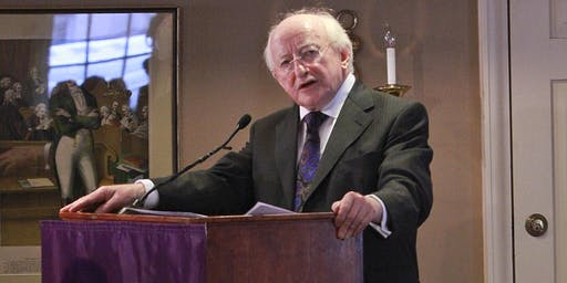 Michael D. Higgins, President of Ireland at New York University