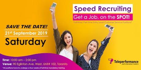 Speed Recruiting - Get a Job, on the SPOT! tickets