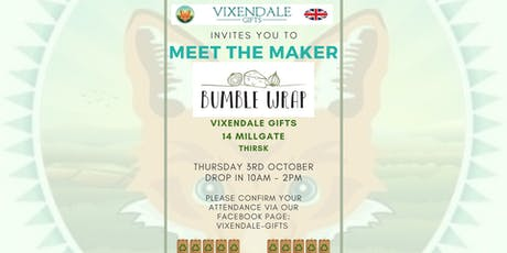 Meet The Maker: Bumble Wraps @ Vixendale Gifts tickets