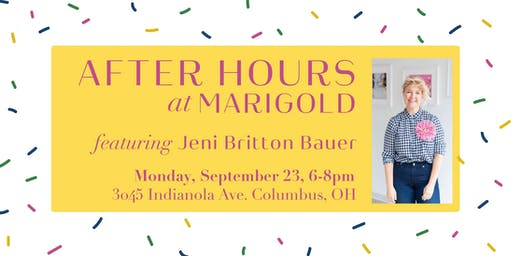 Marigold  After Hours with Jeni Britton Bauer
