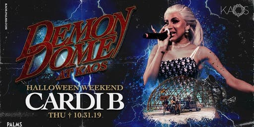 CARDI B at KAOS Nightclub - Halloween Weekend 10/31/2019
