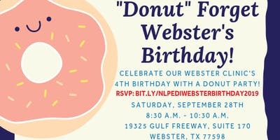 """Donut"" Forget Webster's Birthday!"