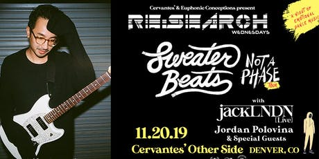 RE:Search feat. Sweater Beats w/ jackLNDN, Jordan Polovina tickets