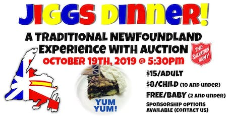 Jiggs Dinner - A traditional Newfoundland dinner with an auction tickets