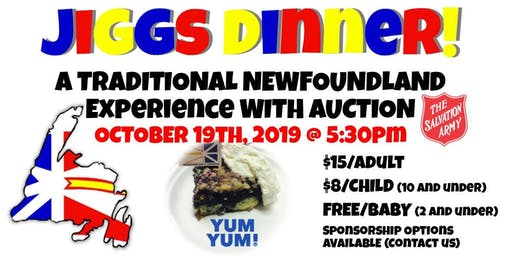 Jiggs Dinner - A traditional Newfoundland dinner with an auction