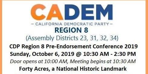 CDP Region 8 Pre-Endorsement Conference 2019
