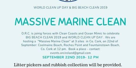 Massive Marine Clean - Big Beach Clean 2019 - World Clean Up Day tickets