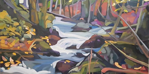 Paint a Forest Cascade with Michelle Reid