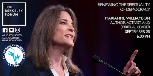CANCELLED: Marianne Williamson at the Berkeley Forum