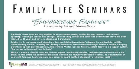 Family Life Seminars tickets