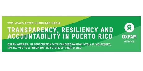 Transparency, Resiliency and Accountability in Puerto Rico tickets