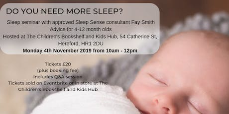 Sleep Seminar for 4-12 month olds tickets