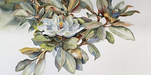 Magnolia Blossom Watercolor Workshop