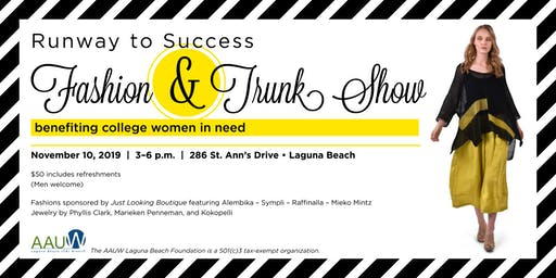 Runway to Success Fashion and Trunk Show - Laguna Beach