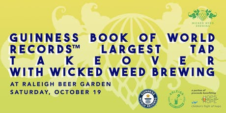 Guinness Book World Record Tap Takeover with Wicked Weed tickets