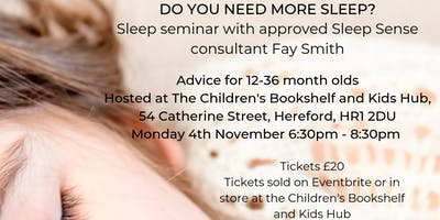 Sleep Seminar for 12 to 36 month olds