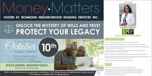 Money Matters Series- Wills & Trust