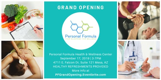Personal Formula GRAND OPENING