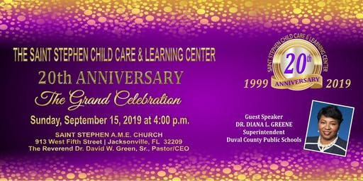 Saint Stephen Child Care & Learning Center 20th Anniversary Celebration