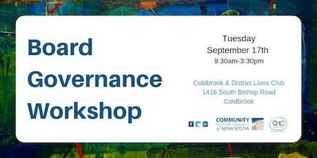 Board Governance Workshop - VALLEY - Coldbrook tickets